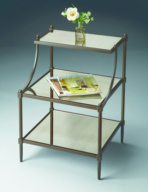 """Metalworks Tiered Side Table 20""""W by Butler Specialty"""