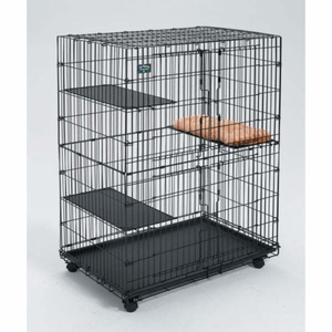 Midwest Collapsible Cat Playpen Black 36x 23.5x 50.5 Inch