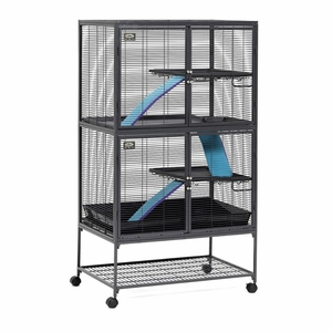 Midwest Critter Nation Double Level Pet Pen Gray 36x 24x 63 Inch
