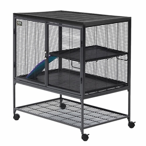 Midwest Critter Nation Single Level Pet Pen Gray 36x 24x 39 Inch