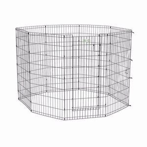 """Midwest Life Stages Pet Exercise Pen with Door 8 Panels Black 24"""" x 24"""""""