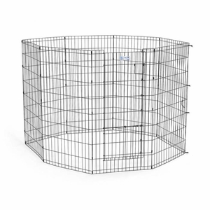 Midwest Life Stages Pet Exercise Pen with Split Door Black 24x 36 Inch