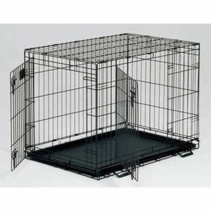 Midwest LS-1624DD Life Stages Double Door Dog Crate