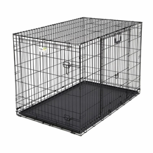 Midwest Ovation Double Door Crate with Up and Away Door Black 43.75x28.25x30.50 Inch