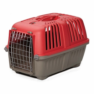 Midwest Spree Plastic Pet Carrier Red 18.875x 12.75x 12.75 Inch