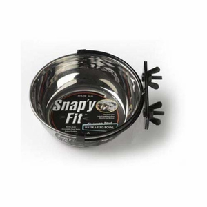 Midwest Stainless Steel Snap'y Fit Water and Feed Bowl 20 oz