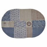 Millie Patchwork Rug Oval 96x132
