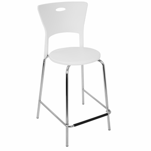 Mimi 24 Counterstool in White and Chrome - Set Of 2 by LumiSource