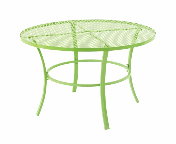 Benzara 29043 mind blowing metal round outdoor table by uma for Wild orchid furniture
