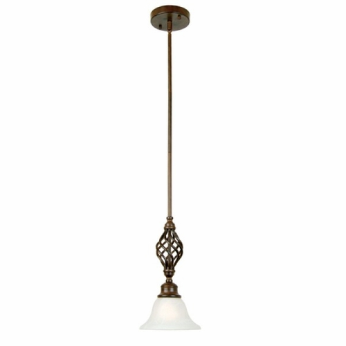 Yosemite home decor 4052 1db mini pendant collection classy styled 1 light in dark brown by Home decorators collection mini pendant