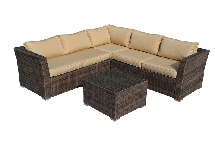 Buy mirge 4 piece all weather dark brown wicker patio for Wild orchid furniture