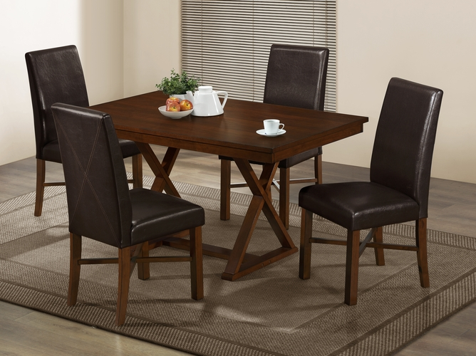 Monarch specialties inc mhs i 1817 modern oak veneer 36 x 60 dining table at - Oak veneer dining table ...