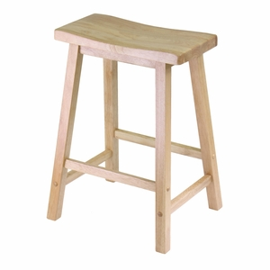 "Modern Piece of Saddle Seat 24"" Stool by Winsome Woods"