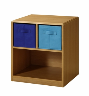 4D Concepts Modern Wooden Nightstand with Pretty Blue Drawers