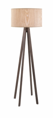 Modish Meridian Wood Floor Lamp