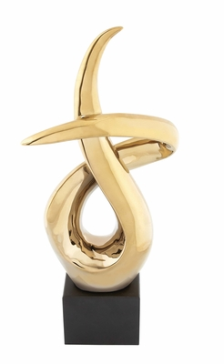 Modish Styled Adorable Ceramic Gold Luster Abstract - 96704 by Benzara