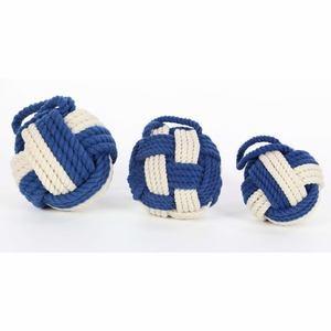 Monkey Rope Fist Decorative Blue Knot - 28553 by Benzara