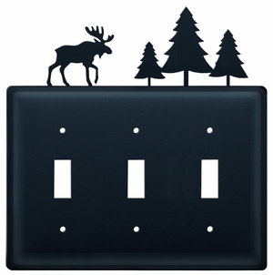 Moose & Trees - Triple Switch Cover