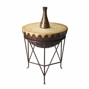 "Mountain Lodge End Table 24"" Diam. by Butler Specialty"
