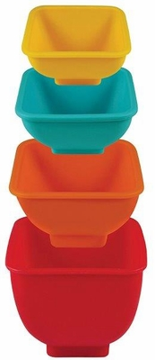 Mrs. Anderson's Baking Flex and Pour Measuring Cups, Silicone, Set of 4