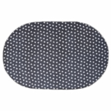 Multi Star Navy Cotton Rug Oval 27x48