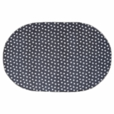 Multi Star Navy Cotton Rug Oval 36x60