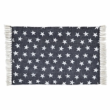 Multi Star Navy Cotton Rug Rect 20x30