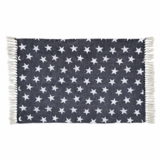 Multi Star Navy Cotton Rug Rect 27x48