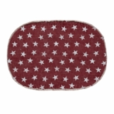 Multi Star Red Cotton Rug Oval 27x48
