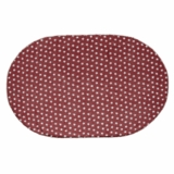 Multi Star Red Cotton Rug Oval 48x72