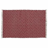 Multi Star Red Cotton Rug Rect 60x96