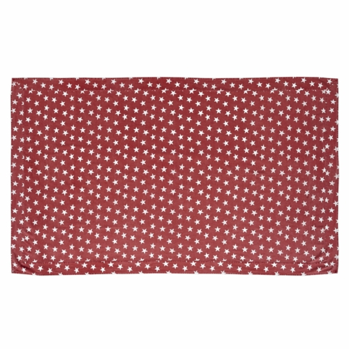 Nancys nook vhc 16086 multi star red table cloth 60x120 at for Table 60x120