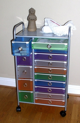 Multicolored Multi Storage Stylish Rolling Drawers by 4D Concepts