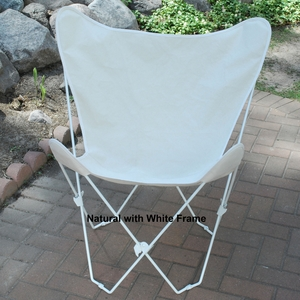 Algoma Natural Cotton Duck Fabric Butterfly Chair and Cover Combination