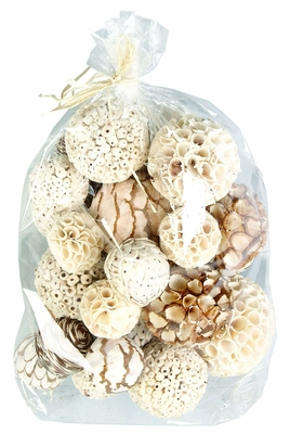 Natural Jungle Floradecorative Balls - Assortment Of 29  - 37210 by Benzara