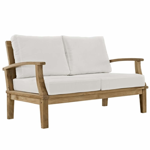Buy natural white marina outdoor patio teak loveseat at for Wild orchid furniture