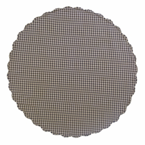 Navy Check Scalloped Table Cloth 70 Round