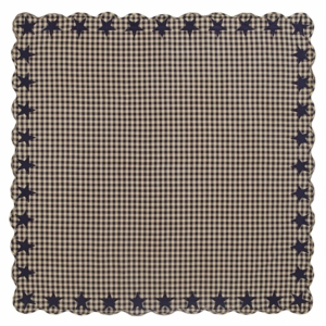 Navy Star Scalloped Table Cloth 60x60