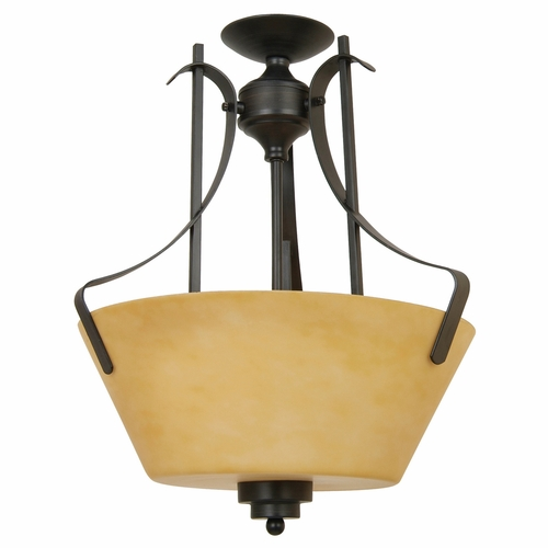 Yosemite Home Decor 92751 3vb Nevadafalls Lighting Collection Striking 3 Light Semi Flush Mount