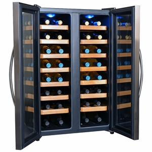 NewAir AW-321ED 32 Bottle Dual Zone Thermoelectric Wine Cooler