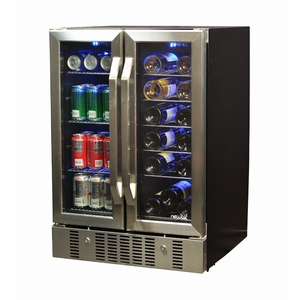 Lumisource NewAir 18 Bottle 60 Can Dual Zone Compressor Wine Cooler