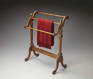 "Newhouse Vintage Oak Blanket Stand 29.5""W by Butler Specialty"