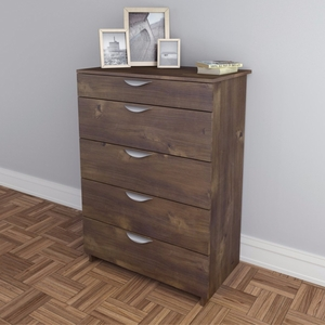 Luxeria 401205 Nocce 5-Drawer Chest , Truffle