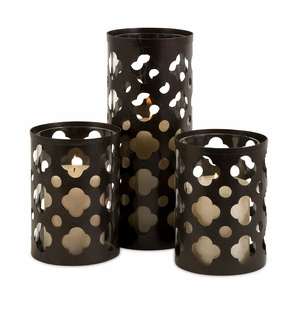 Norte Cutwork Candle Holders - Set of 3