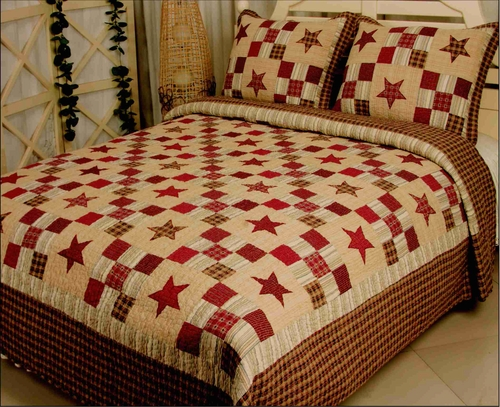 Elegant Decor 8217R-SK Nostalgia Red Quilt Luxury Oversize King ... : handmade cotton quilts - Adamdwight.com