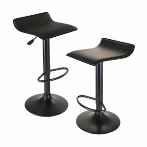 Winsome Wood Set of 2 Obsidian Adjustable Backless Swivel Air Lift Stool