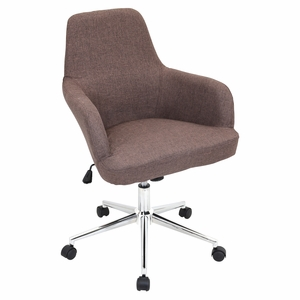 OFC-AC-DGR-BN Degree Height Adjustable Office Chair with Swivel