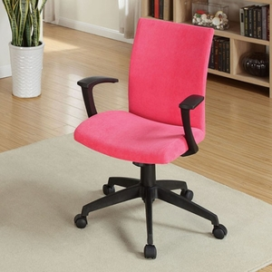 Crofter Contemporary Office Chair, Red Finish