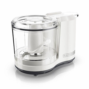 One-Touch 1.5 Cup Capacity Electric Food Chopper with Improved Assembly & Lid