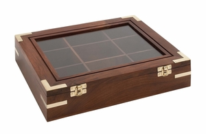 Opaque Styled Attractive Wood Box - 19013 by Benzara